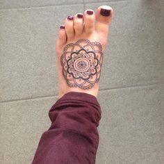mandala foot tattoo #ink #youqueen #girly #tattoos #mandala