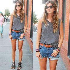 Jeans e rasteira
