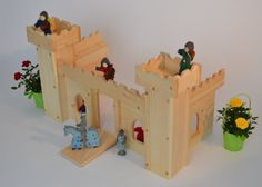 Natural Wooden Play Castle by AToymakersDaughter on Etsy, $169.00