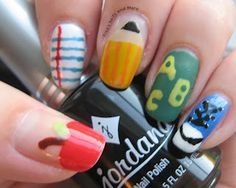 Back to School Nails for Spicey'z Nails contest