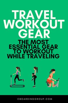 The frequent traveler knows how important it is to workout while traveling. Here is the best and most essential travel workout gear! Travel Workout, Workout Gear, Workouts, Work Travel, Business Travel, Travel Advice, Travel Tips, Healthy Travel Snacks, Road Trip Food