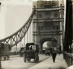 On Tower Bridge, 1905.