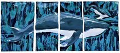 Hawaiian Sea Turtle, Hawaiian Art, Ceramic Wall Art, Wall Tile, Ceramic Turtle, Whale Art, Panel Wall Art, Humpback Whale, True Art