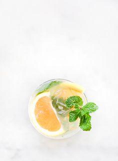 Grapefruit cocktail: http://www.stylemepretty.com/living/2015/07/30/grapefruit-mint-mojito/ | Recipe: Constance Higley - http://laurenkelp.com/constance-higley/