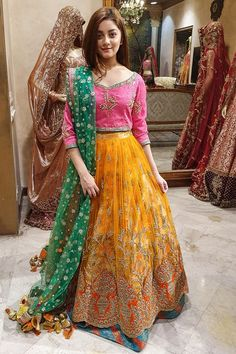 Designer Lehenga Choli Color Combination <br> Latest Collection of Pakistani Bridal Dresses Online by Top Pakistani Designers to Buy Online for Pakistani Girls looking for Traditional or Contemporary Bridal & Wedding Dresses. Pakistani Bridal Dresses Online, Pakistani Mehndi Dress, Pakistani Fashion Party Wear, Pakistani Formal Dresses, Pakistani Wedding Outfits, Wedding Dresses For Girls, Pakistani Dress Design, Party Wear Dresses, Pakistani Designers