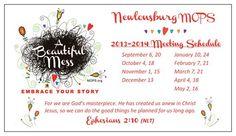 Beautiful Mess meeting dates card, another calendar format.