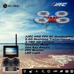 Original JJRC H8D 5.8G FPV RTF RC Quadcopter Headless Mode/One Key Return Drone with 2.0MP Camera FPV Monitor LCD If you are bewildered about RC model selection, You want it fly faster and fraid it lost. this R/C quadcopter will the best one for you. This Drone with a HD FPV camera, 5.8GHZ transmission, Support Real Time transmission. with this camera you can record the beauty moment and see it on the monitor.