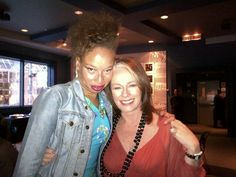 Stacey McKenzie and Arlene Dickinson at the Canada Reads event as panellists