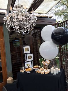 My Little Gentlemen S Baby Shower Black White And Gold I Couldn T Have Had More Fun Making My Black Gold Baby Shower Baby Shower Fall Gold Baby Shower Boy