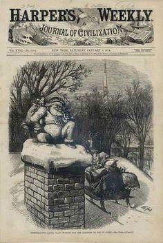 Harper's weekly Santa Claus , la primera ilustración de Santa Claus