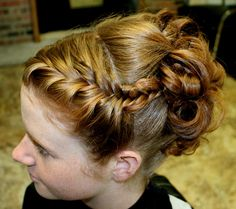 French fishtail braid into soft elegant updo....if only my hair was long enough for this!!! So pretty!