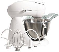 The Hamilton Beach Eclectrics All-Metal Stand Mixer features a powerful 400 watt motor and offers planetary mixing action and 12 settings. Certain to be a valued tool in any kitchen, this mixer is stylish, durable and easy to clean. Stand Mixer Reviews, Best Stand Mixer, Small Kitchen Appliances, Kitchen Aid Mixer, Cool Kitchens, Kitchen Gadgets, Kitchen Tools, Stainless Steel Bowl, Head Stand