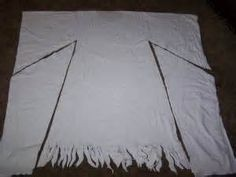 How to Make a Ghost Costume - it looks like an Indian maidens dress