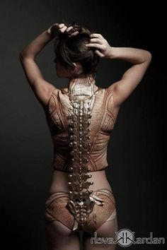Skinned Alive the Anatomical Structure Flesh Corset and Metallic Spine By Jemma Marie McLean / http://www....