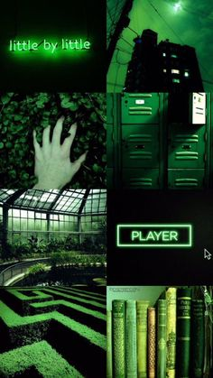 Green Aesthetic Collages in 2019 Neon wallpaper