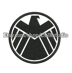 Agents of S.H.I.E.L.D. embroidery design - 5 Sizes - INSTANT DOWNLOAD by DnkStudio on Etsy  #embroiderypattern #embroiderydesign #machineembroidery #embroidery  #avenger #superhero #shieldembroidery #pattern