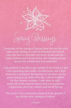 Affirmation - Spring Blessings by CarlyMarie
