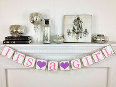 Its A Girl Banner Baby Shower Decorations  Baby by ABannerAffair, $18.00