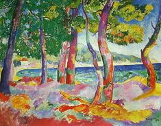 Henri Charles Manguin (Paris, 1874 – 1949) was a French painter, associated with Les Fauves. 1906 The Pine Forest at Cavaliere