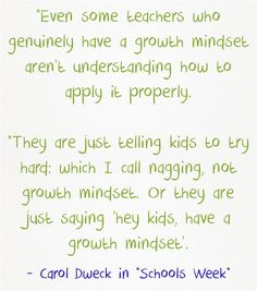 """Quote Of The Day: Carol Dweck On """"Nagging"""""""