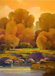 "Contemporary Painting - ""Autumn Blend"" (Original Art from Mac Stevenson)"