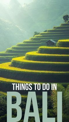 The best things to do to make the most out of your vacation in Bali, Indonesia.