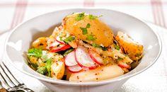 Салат из молодого картофеля