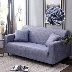 Geometric Loveseats Slipcovers - Sectional Elastic Stretch Sofa Cover for Living Room Couch Cover L shape Armchair Cover Single/Two/Three seat, Color 5 / Corner Sofa Covers, Couch Covers, Cushion Covers, Loveseat Slipcovers, Sectional Sofa, Sofa Chair, Furniture Covers, Sofa Furniture, Furniture Design