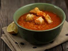 Supa+de+linte+rosie Turkish red lentil soup Red Lentil Soup, Lentils, Thai Red Curry, Supe, Diet, Healthy, Ethnic Recipes, Food, Cream