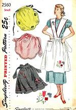 Vintage Sewing Pattern Apron Simplicity 2560