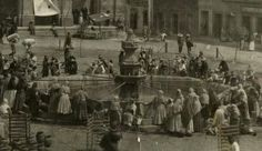 Plazuela d Villa Real. Alrededor d 1900.