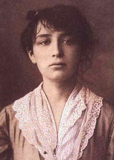 Camille Claudel. sculptress. Student/mistress/model/assistant/slave of August Rodin - later in life, she resided in an asylum.