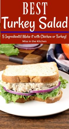 Turkey Salad {VIDEO} – Miss in the Kitchen It just doesn't get any easier than this Turkey Salad for your Thanksgiving leftovers. This literally comes together in less than five minutes. Easy recipe that works with leftover turkey or leftover chicken. Turkey And Rice Recipe, Easy Leftover Turkey Recipes, Leftover Turkey Casserole, Leftovers Recipes, Pumpkin Recipes, Dinner Recipes, Vegan Pumpkin, Turkey Salad Sandwich, Turkey Sandwiches
