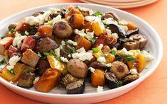 Salade van geroosterde groenten en feta