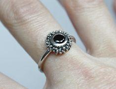ENGAGEMENT ZIRCONIA RING. Black Zirconia. Black C Z ring.