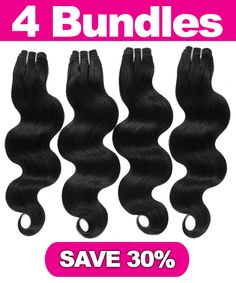 "4 Bundles 100% Natural Body Wave Hair Extensions #hair #haircare  4 Bundles 100% Natural Body Wave Hair Extensions is constructed with a ""Shed FREE micro-machined triple weft"" so that your hair extension is guaranteed to lay flat and appear natural.  Includes: 1X 26"" 100% Natural Body Wave Hair Extension 1X 24"" 100% Natural Body Wave Hair Extension 1X 22"" 100% Natural Body Wave Hair Extension 1X 18"" 100% Natural Body Wave Hair Extension FREE 2oz Straight Silk Spray"