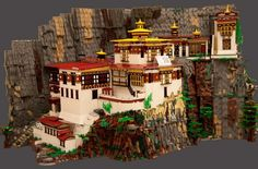 Tiger's Nest Monastery of Bhutan Beautifully Made in Lego - Randommization
