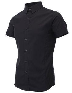 FLATSEVEN Mens Slim Fit Basic Dress Shirts Short Sleeve (SH401) Black, L FLATSEVEN http://www.amazon.co.uk/dp/B00CVR5IMK/ref=cm_sw_r_pi_dp_MvQbvb0N8MQ7Y