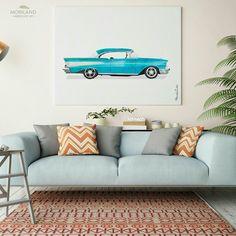 Chevrolet Bel Air 1957 Print, Classic Car Wall Art, Transportation Print, Printable Car Bedroom Decor, Kids Room Print, Vintage Car Nursery