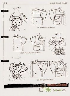 Modeling elements of women's clothing. Discussion on LiveInternet - Russian Service Online Diaries Pattern Cutting, Pattern Making, Sewing Patterns Free, Clothing Patterns, Sewing Clothes, Diy Clothes, Modelista, Diy Couture, Sewing Lessons