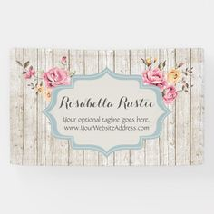 Shop Shabby Chic Floral Rustic Wood & Vintage Boutique Banner created by CyanSkyDesign. Shabby Chic Logo, Shabby Chic Kitchen Decor, Shabby Chic Mirror, Shabby Chic Cottage, Shabby Chic Homes, Shabby Chic Style, Shabby Chic Furniture, Handmade Furniture, Rustic Furniture