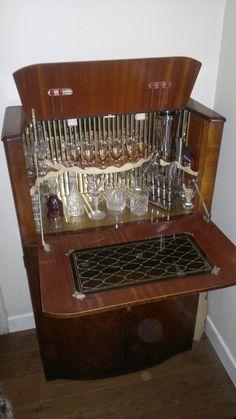 Vintage Cocktail Cabinet 1950s 1960s Drinks Bar Retro