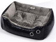 Cuna para perros $40 €  Exterior imitación piel/interior pelo fino extrasuave.  Varias medidas  www.adiosamigo.es/tienda