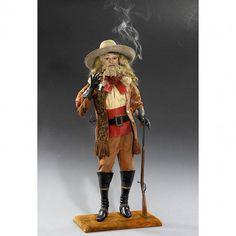 """728: Rare """"Buffalo Bill"""" Smoking Automaton by Vichy, c. : Lot 728"""