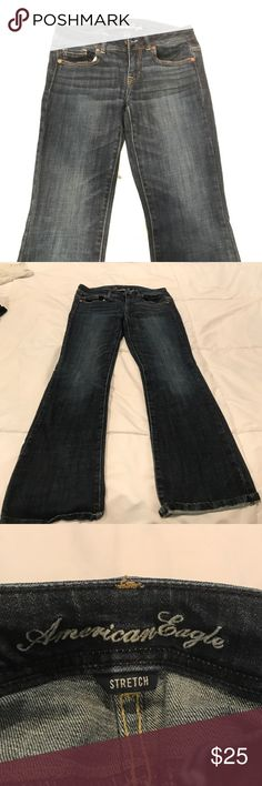 American Eagle Original Boot Jean - Size 4s American Eagle Original Boot Jean - Size 4 Short - Stretch Denim material - Jeans are in great shape!! American Eagle Outfitters Jeans Boot Cut