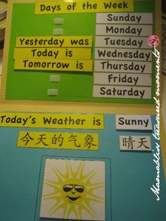 lilhandmades Shop: Learning Aid - Days of the Week & Weather Chart