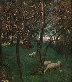 Hans Thoma was one of Germany's outstanding painters in the late century. Trained in Karlsruhe and Düsseldorf in the he met Gustave Courbet during a long stay in Paris and was deeply influenced by him. Hermann Hesse, Max Ernst, Illustrations, Illustration Art, Karl Hofer, Horst Janssen, Hans Thoma, George Grosz, Lucas Cranach