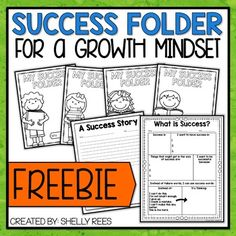 Success Folders are a super easy strategy for you to help cultivate a growth mindset in your classroom! This FREE resource combines student choice with growth mindset to help your students create success folders for the year. I& even included ideas for Fixed Mindset, Success Mindset, What Is Success, Success Story, Data Folders, Special Education Behavior, Life Skills Lessons, Growth Mindset Activities, Student Teaching