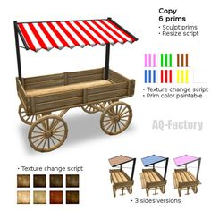 Market wagon with awning