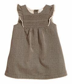 Little girls dress with pin tucks and ruffles